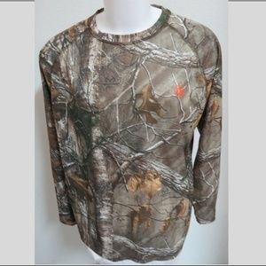 2XL Camouflage Print Hunting Mens #40S Shirt Top